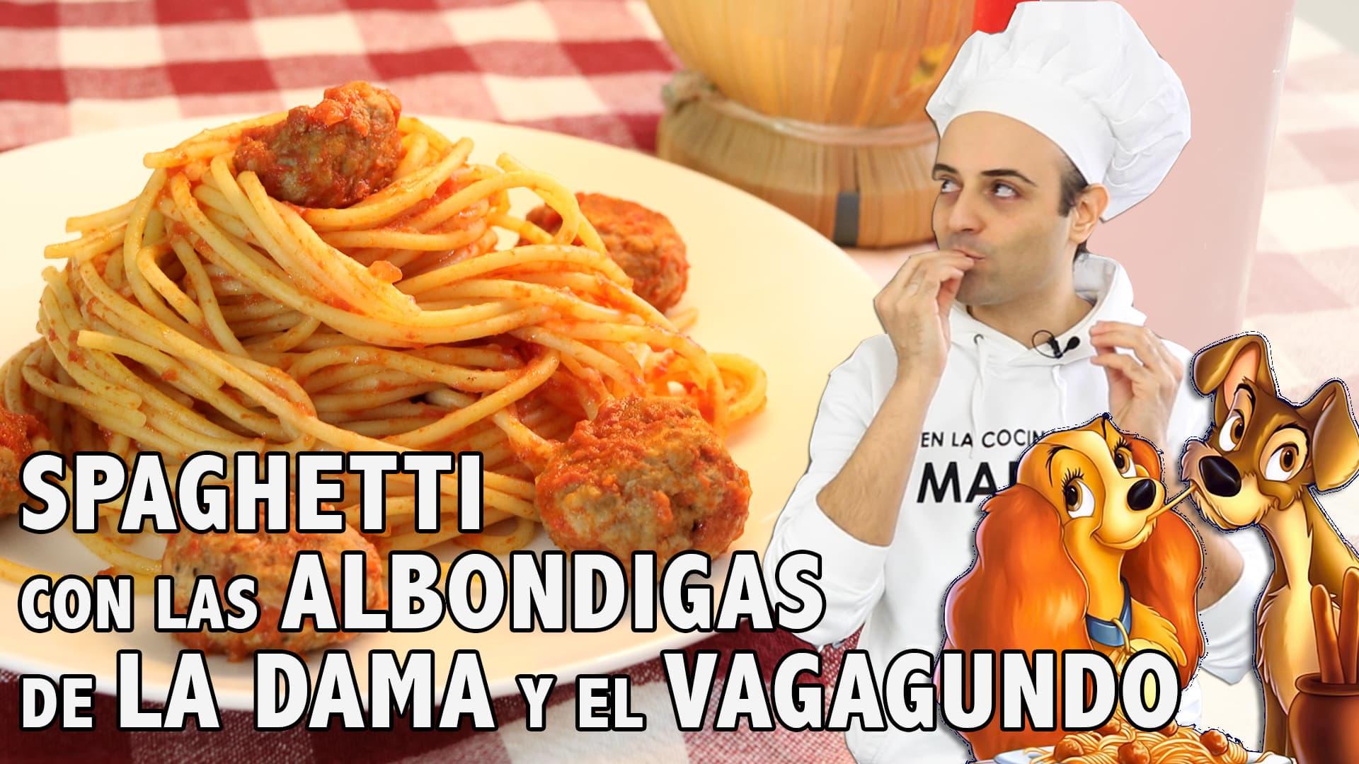 spaghetti con albondigas